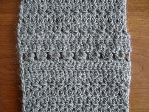 Crocheted snood for Croftmas, made in Rowan Cocoon