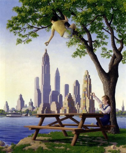 magic-realism-paintings-rob-gonsalves-11__880