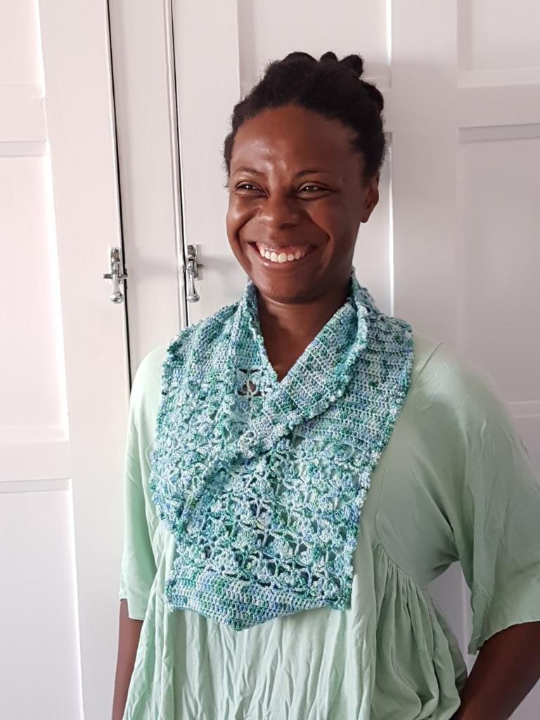 Amulet crochet snood by Natalie Warner